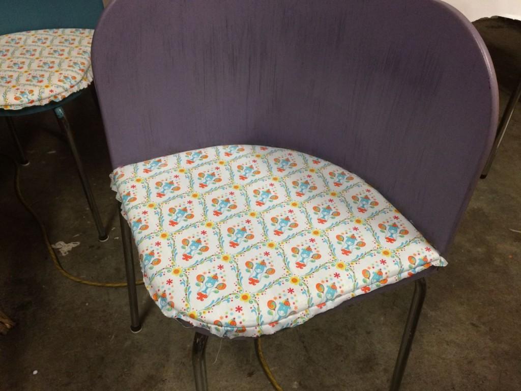 Chenille bedspread purple
