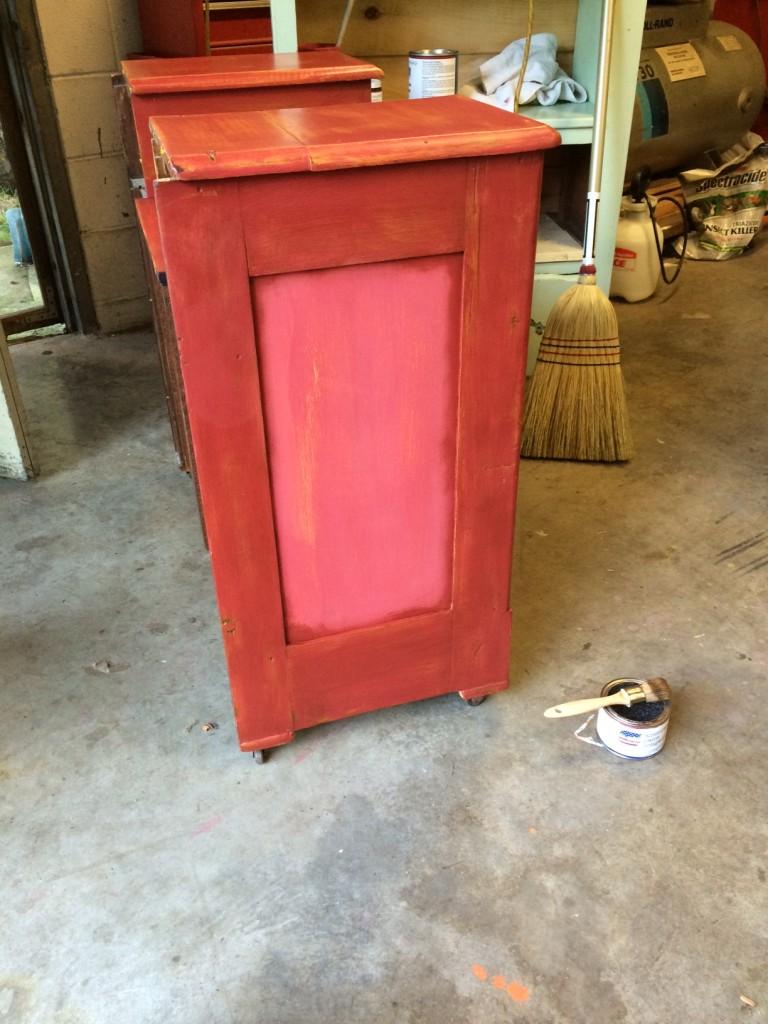 Dark wax dresser