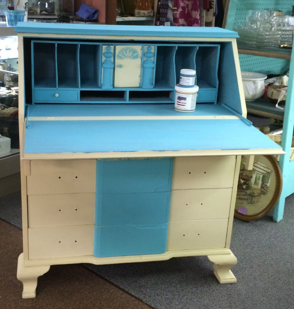 antique painted desk