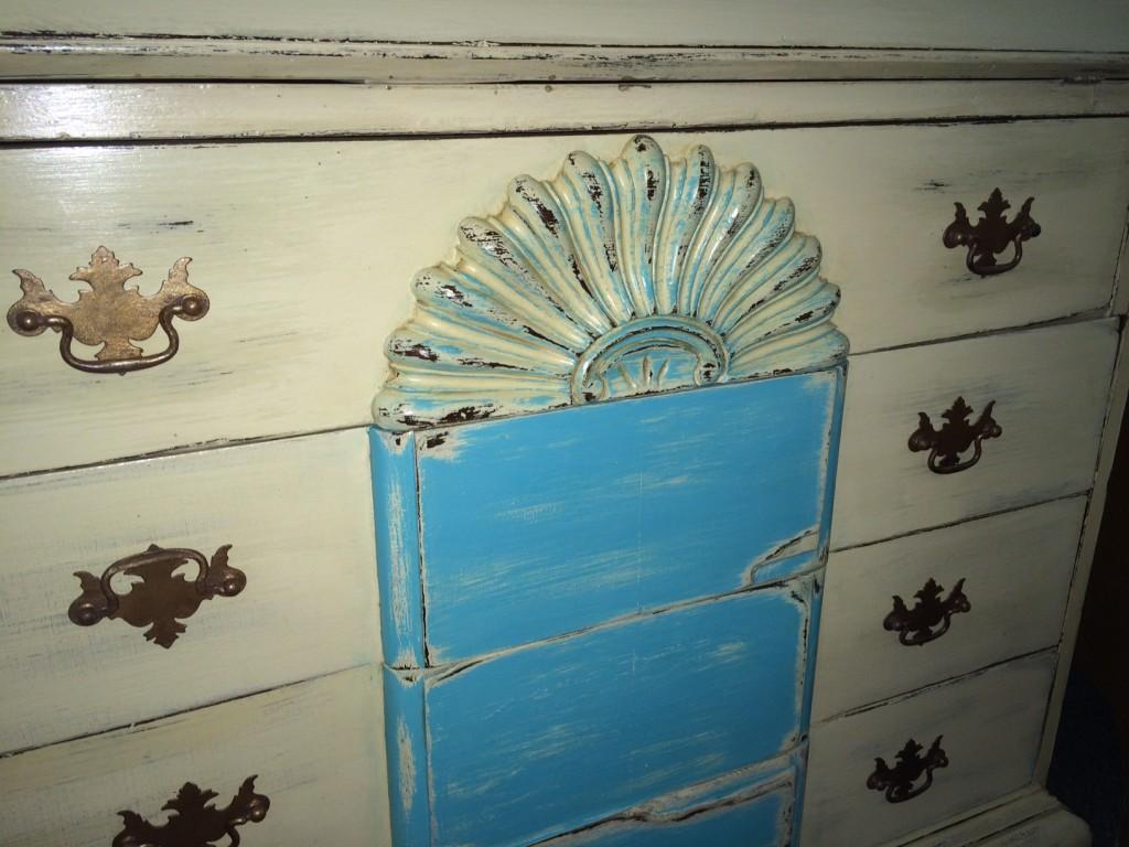 detail of drawer pulls