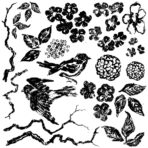 Birds Branches & Blossoms IOD STAMP™